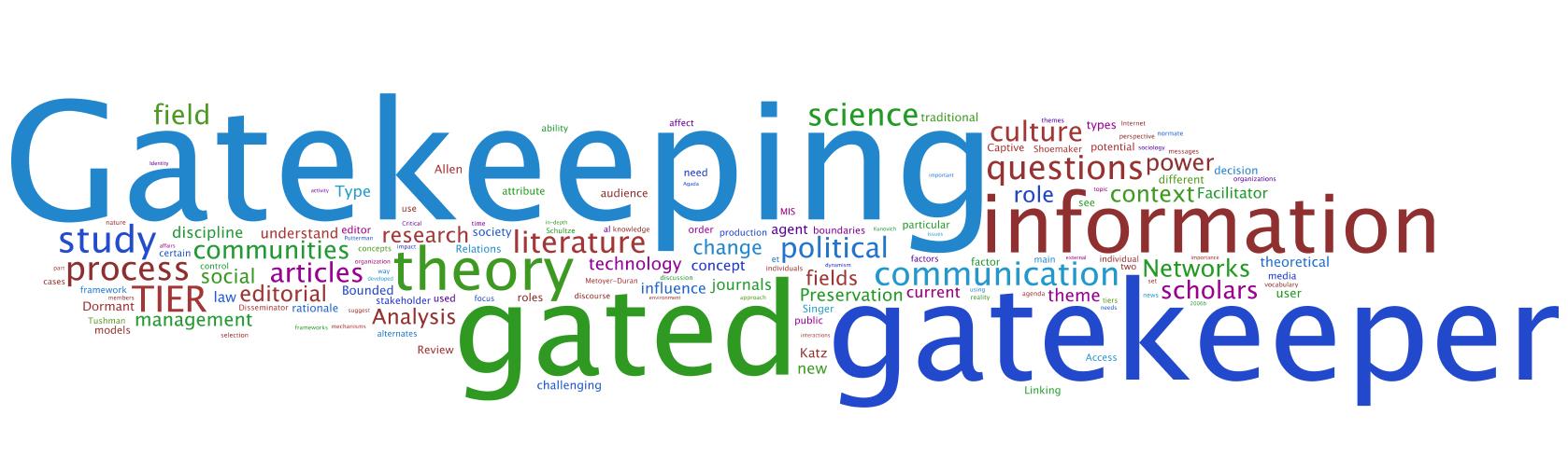 ניתוח של שמירת-סף ברשתות (Network Gatekeeping) בשמונה תחומי לימוד