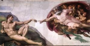 מיכלאנג'לו - יצירת בראשית ב- Capella Sistina