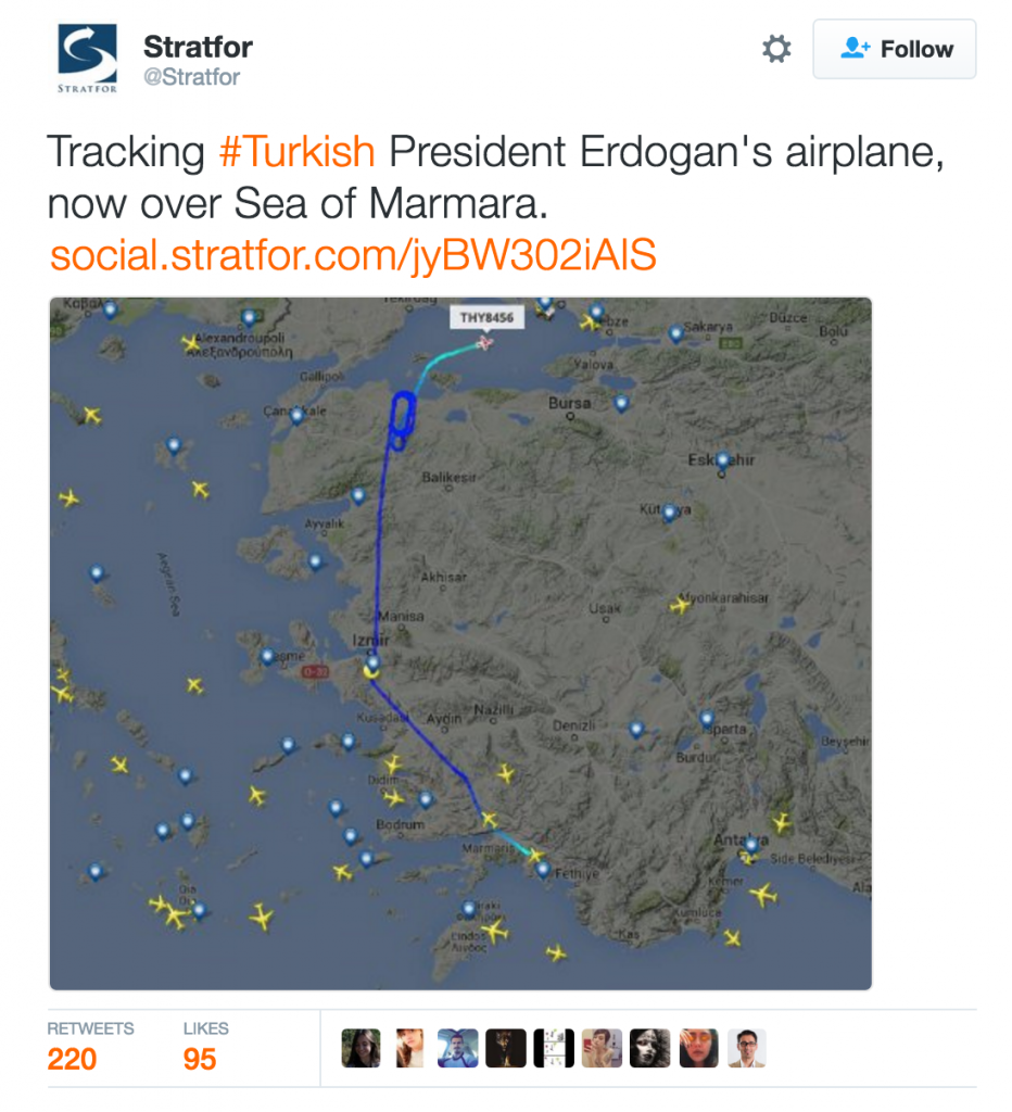 Turkey Coup - Airplane Erdogan 2